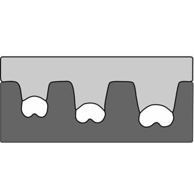 Haupa présbetét lapos csap kötésekhez, nem szigetelt, nyitott sárgaréz kábelsarukhoz, 0.5 - 6 mm2 | 210762E