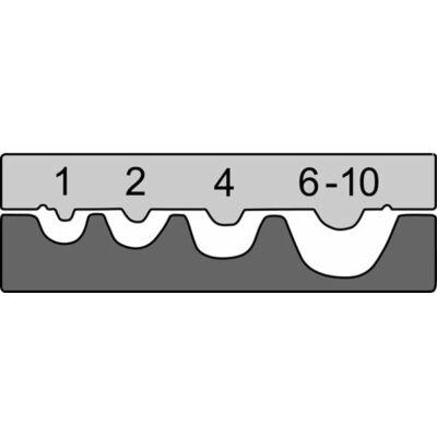 Haupa présbetét, 1 - 10 mm2   210764/E