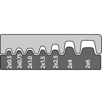 Haupa Présbetét iker érvéghüvelyekhez 0,5 - 6 mm2 | 211676/E