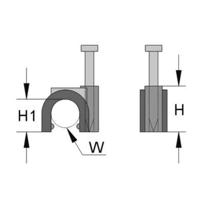 Iso-Clip világosszürke 11,0 x 12,2