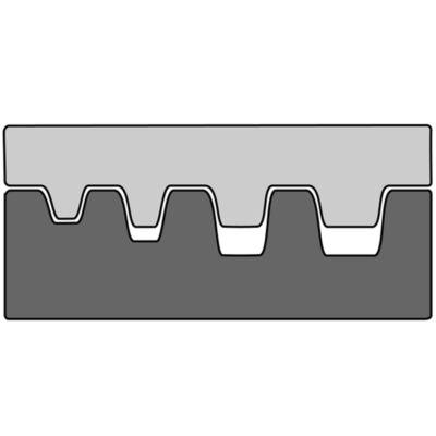 Haupa Présbetét érvéghüvelyekhez, trapéz préseléshez, 10-25  mm2 | 211672/E