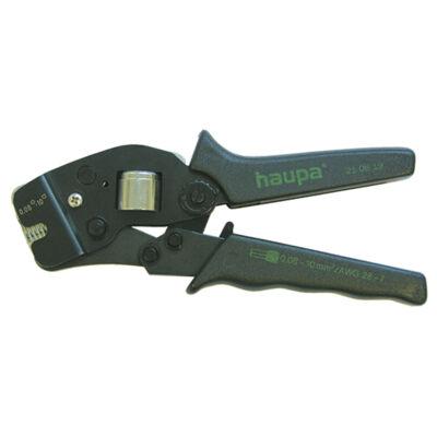 Haupa homlok érvéghüvelyprés, 0.08 - 10 mm2, négyszög, Twin 2 x 4 mm2