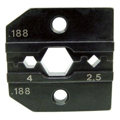 "Haupa présbetétek ""Huber & Suhner"" kontaktusokhoz, 2.5 + 4 mm2"