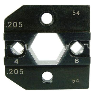 "Haupa présbetétek ""Huber & Suhner"" kontaktusokhoz, 4 + 6 mm2"