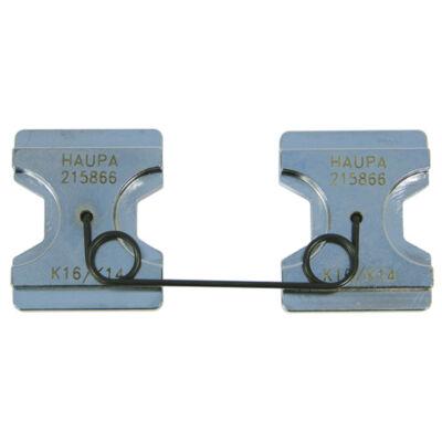 HAUPA Présbetét, DIN Cu + Al, 10 - 16 mm2, hatszög préselés | 215862